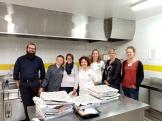 L'équipe d'ELSAA et ses partenaires avec Léa des Délices de Léa