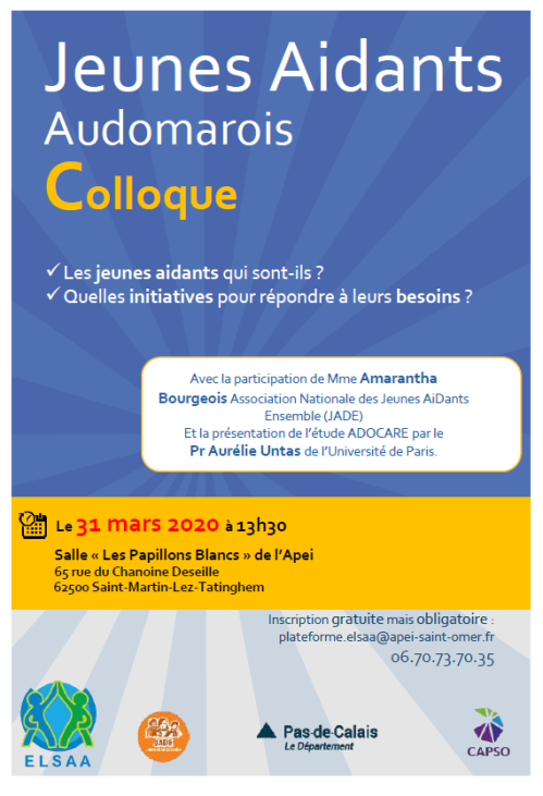 Affichecolloque Jeunes Aidants Audomarois